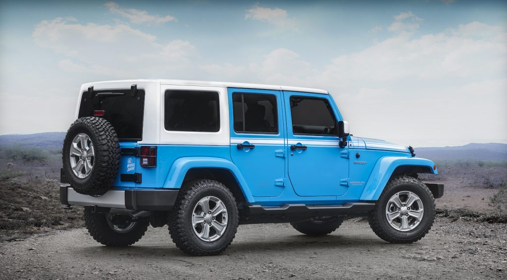 2017 Jeep® Wrangler Chief Edition parked on a summit