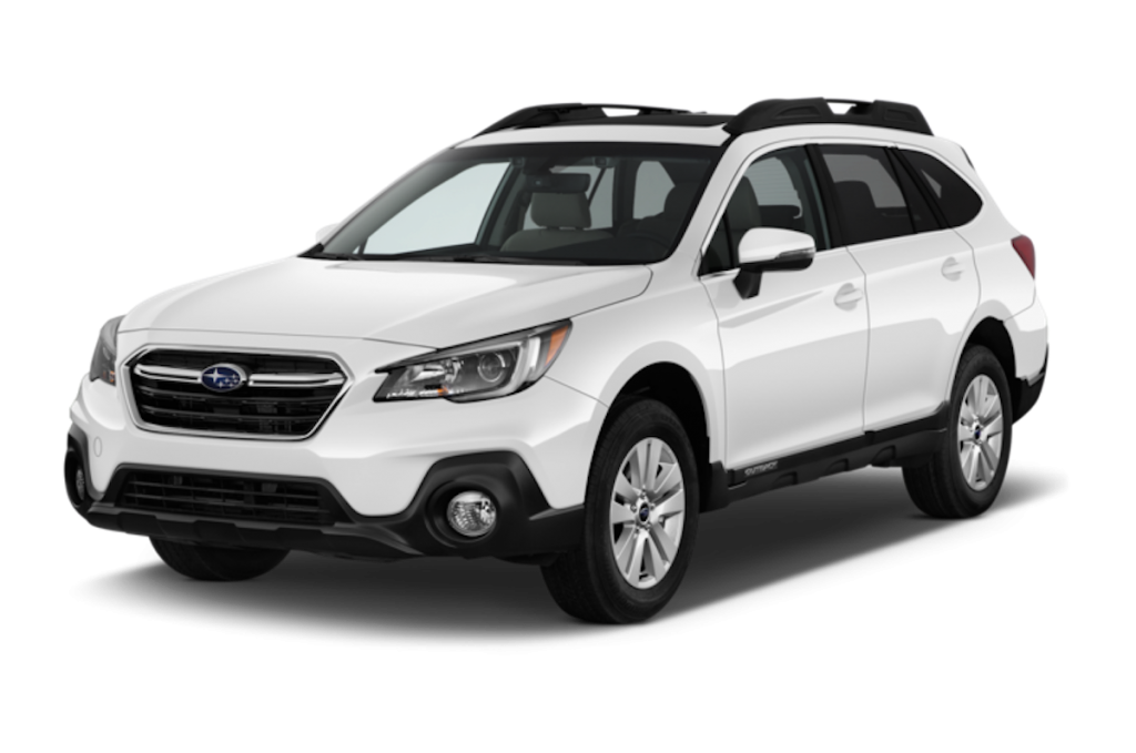 2018 Subaru Outback in white. This model made it on the Consumer areports list of most reliable SUVs of 2018.