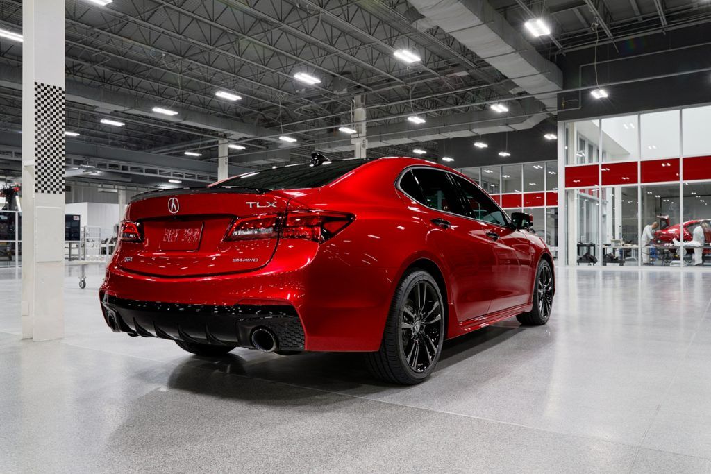 a rear shot of the 2020 Acura TLX PMC Edition