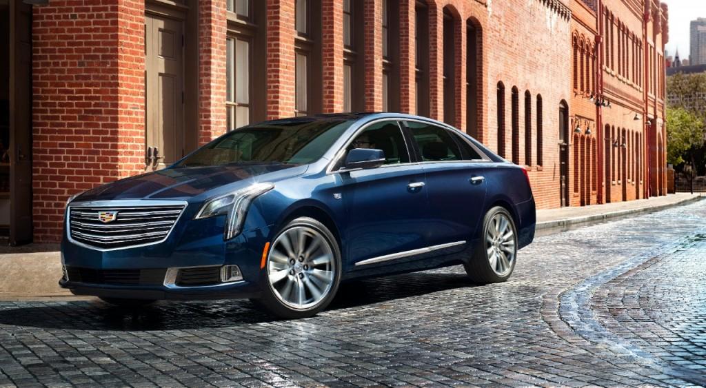 Cadillac XTS in blue