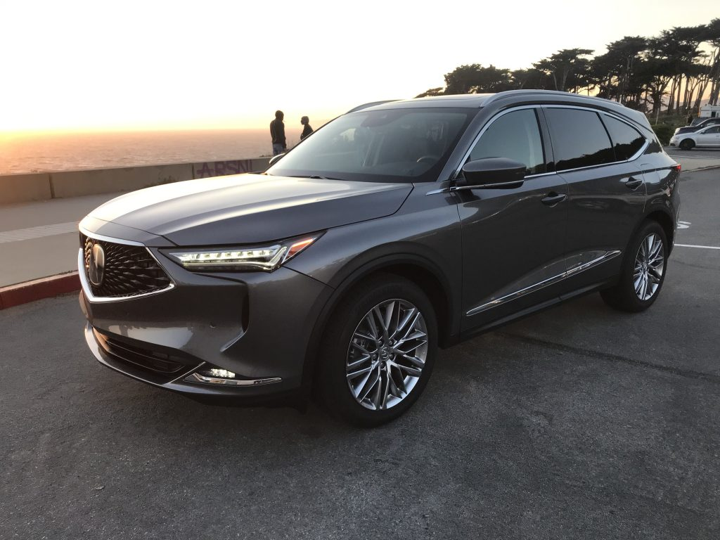 2022 Acura MDX at the beach