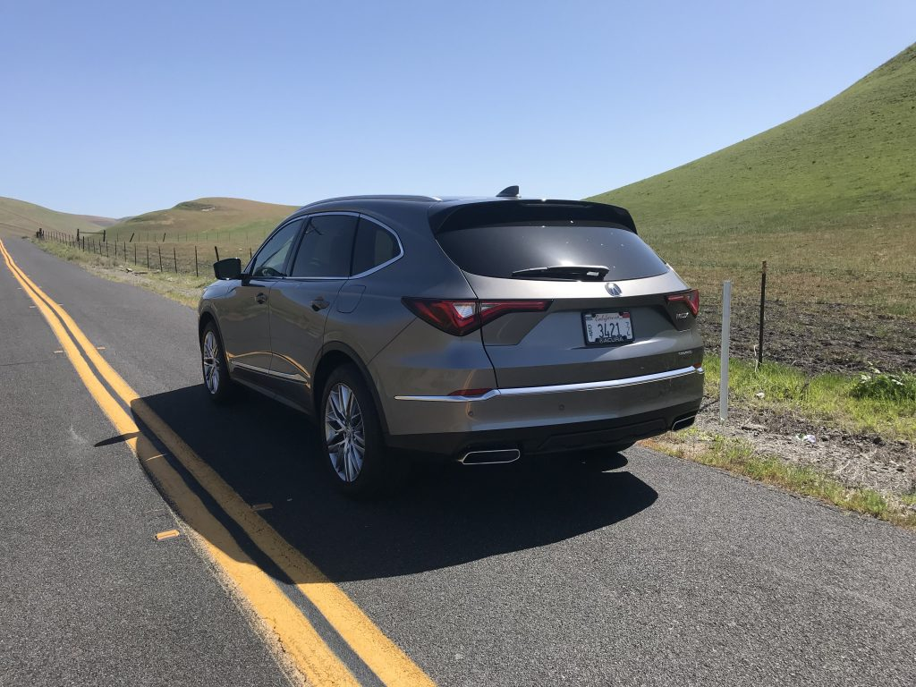2022 Acura MDX on a canyon road