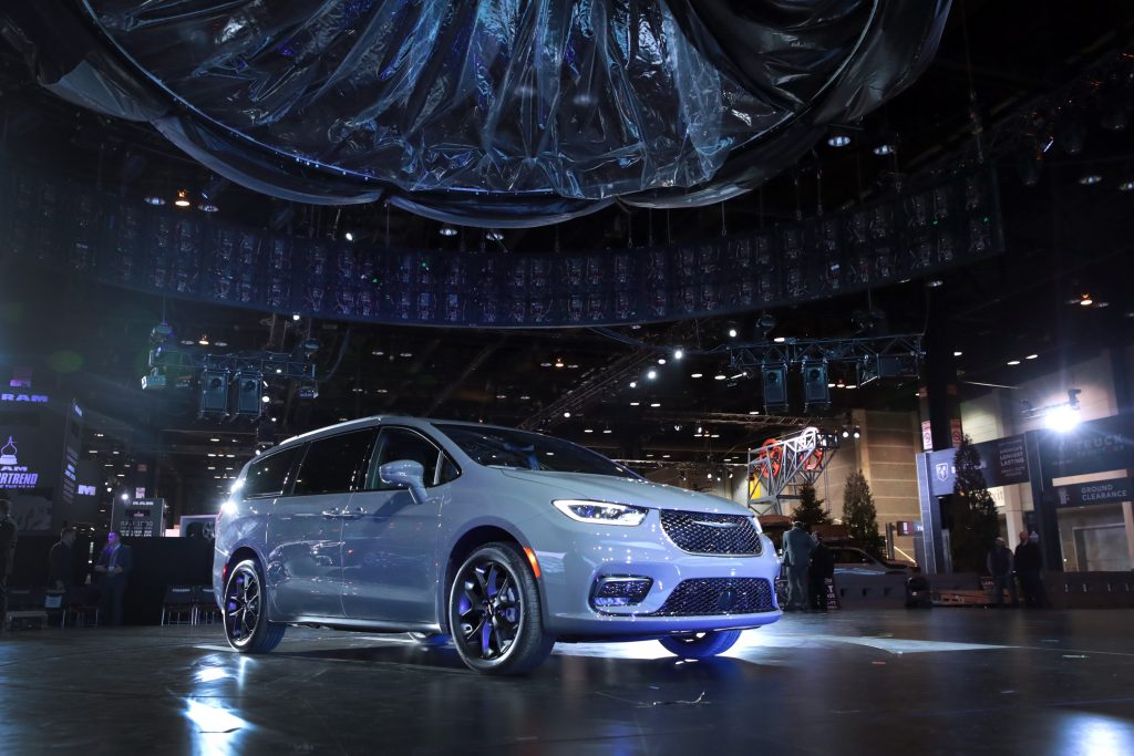 2021 Chrysler Pacifica minivan at Auto Show