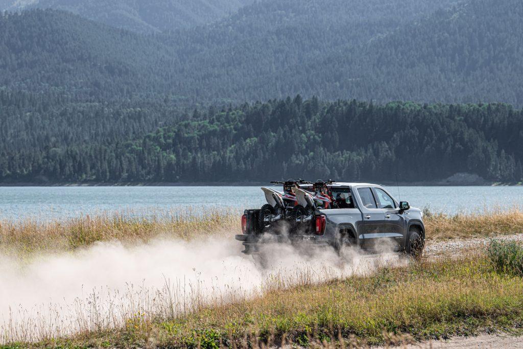 2021 GMC Sierra Denali off-roading