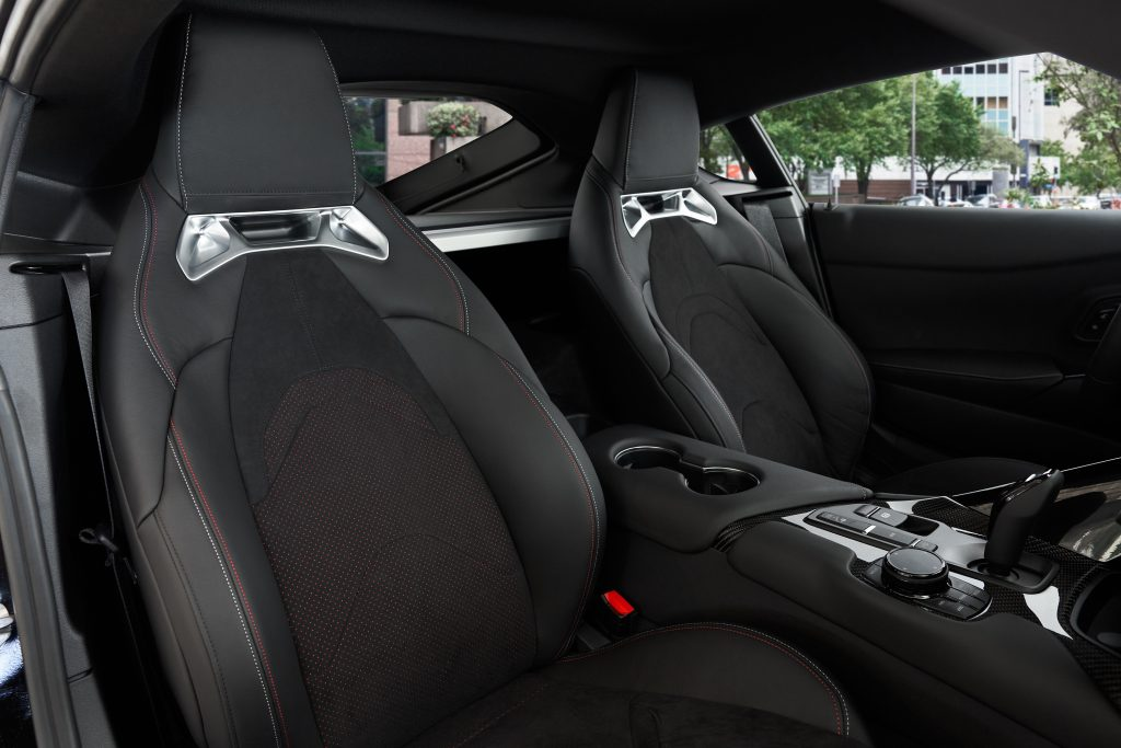 2021 Toyota Supra 2.0 seats