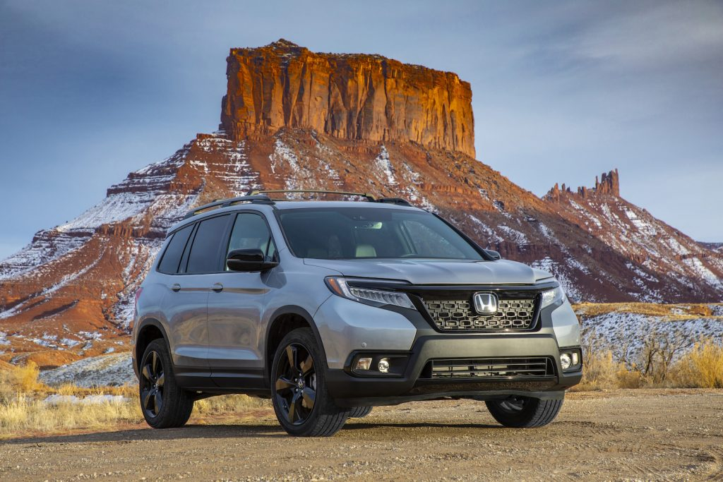 The 2021 Honda Passport parked in the wilderness