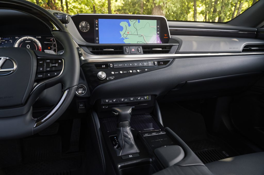 a shot of the center console on the 2021 Lexus ES 250