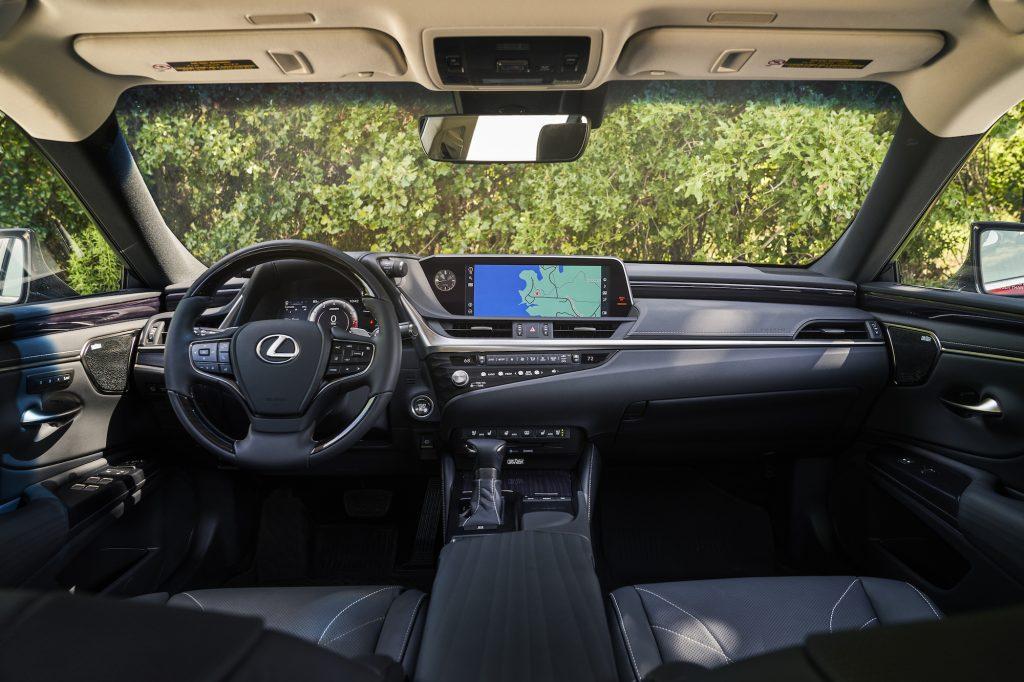 the interior of the 2021 Lexus ES 250