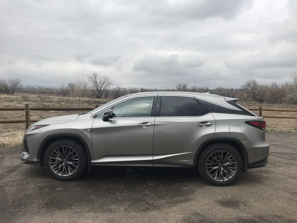 A side shot of the 2021 Lexus RX 450h