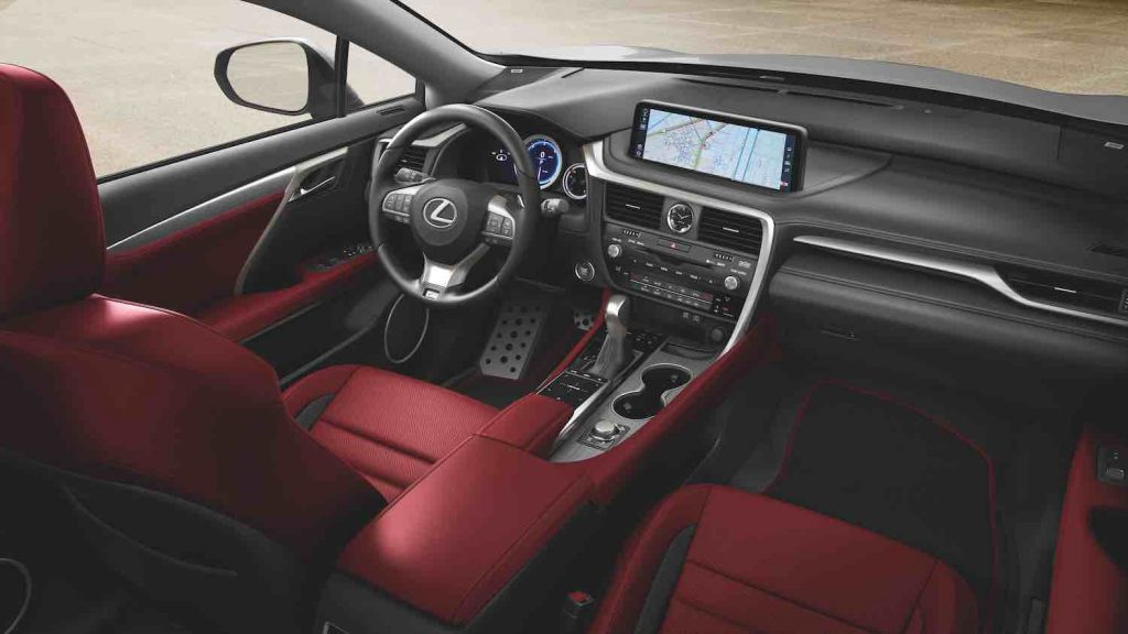 The interior of the 2021 Lexus RX.