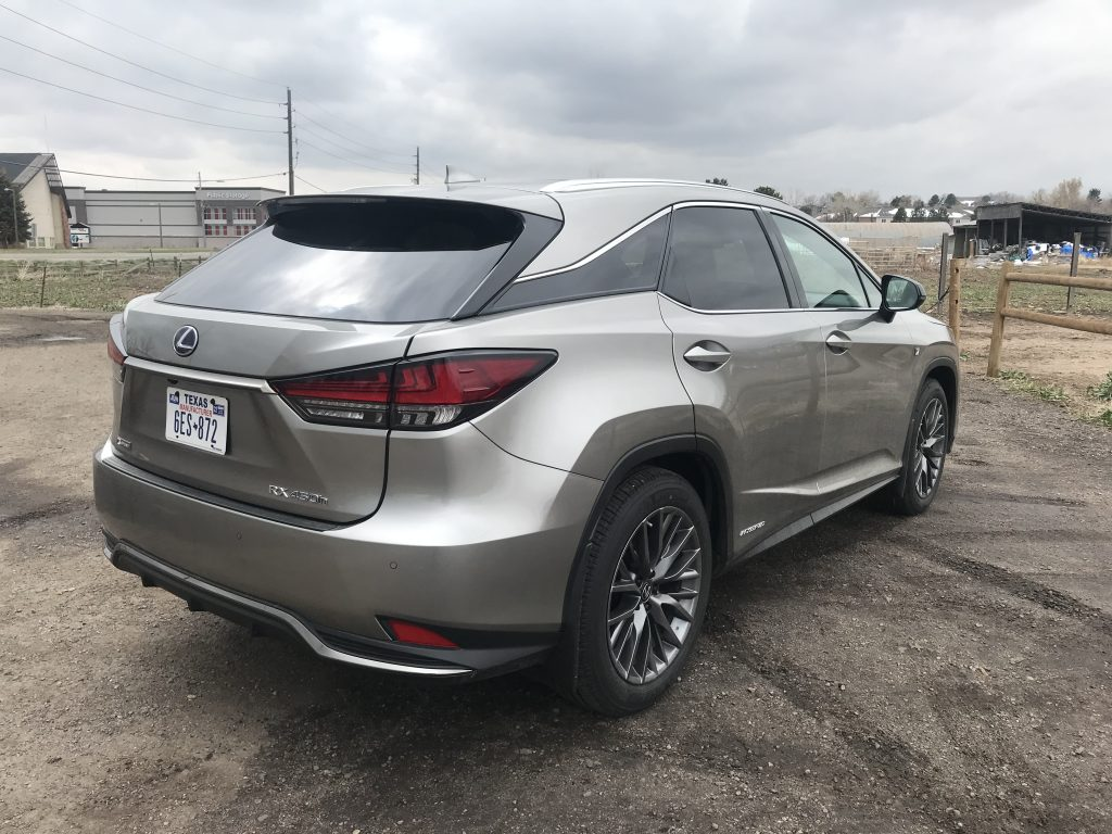 a rear shot of the 2021 Lexus RX 450h