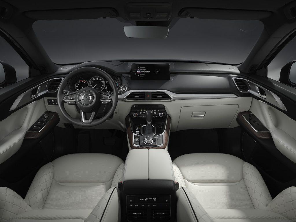 The interior of the 2021 Mazda CX-9