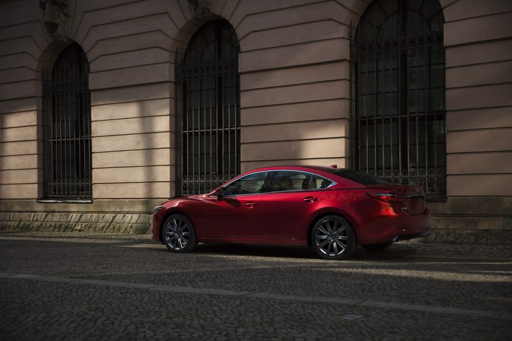 The 2021 Mazda6 parked in the shade