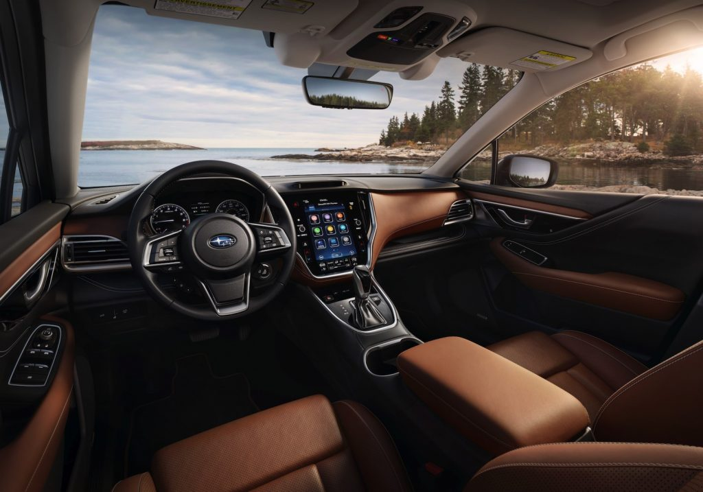 The interior of the 2021 Subaru Outback