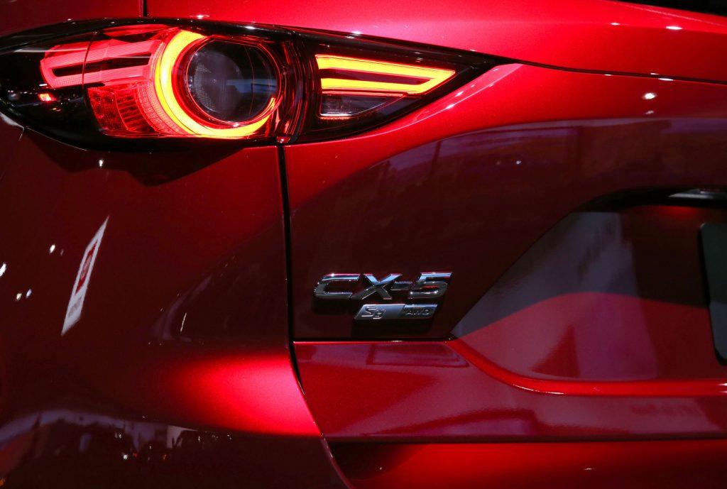 A 2021 Mazda CX-5 tail light