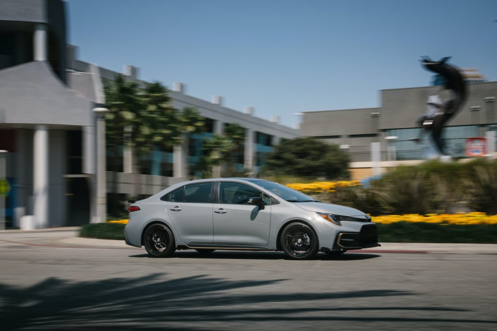 The 2021 Toyota Corolla in action