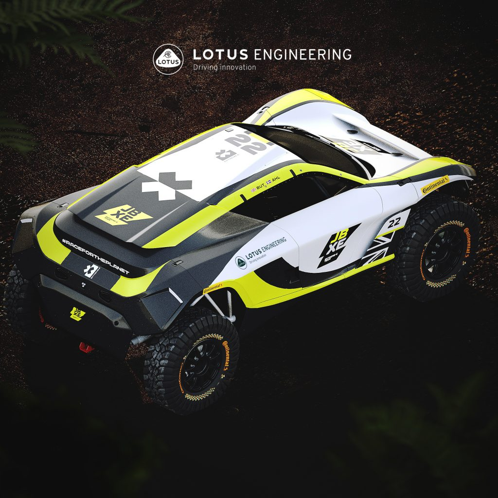 An overhead view of the new lotus off-road racecar