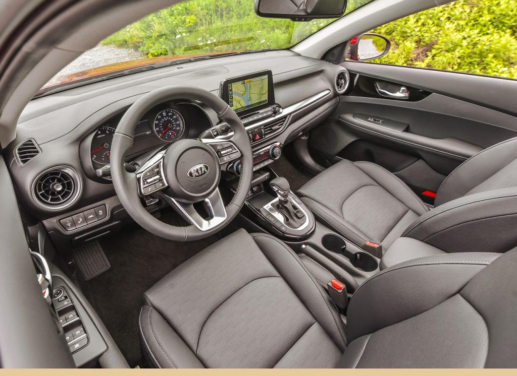 an interior shot of a 2021 Kia Forte