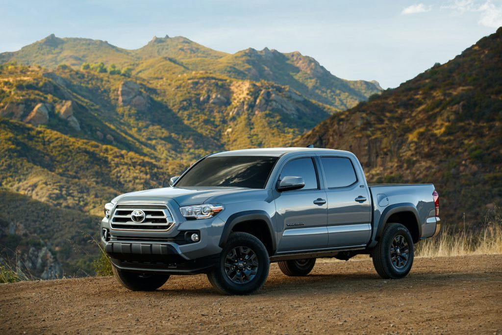 2021 Toyota Tacoma parked on the trails