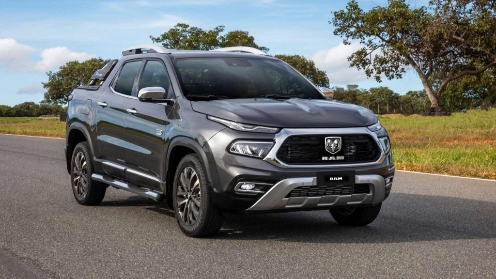 2022 fiat Toro pickup with Ram logos added