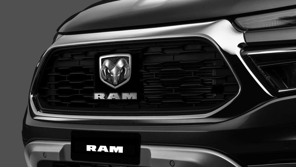 Fiat Toro detail with Ram logo added