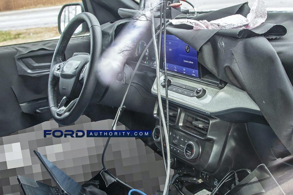2022 Ford Maverick Interior Spy Shot