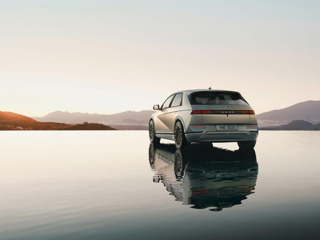 2022 Hyundai Ioniq 5 rear 3/4 view