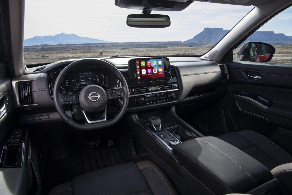 An image of a 2022 Nissan Pathfinder parked outdoors.