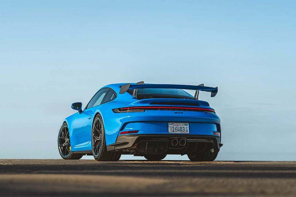 2022 Porsche 911 GT3 from behind