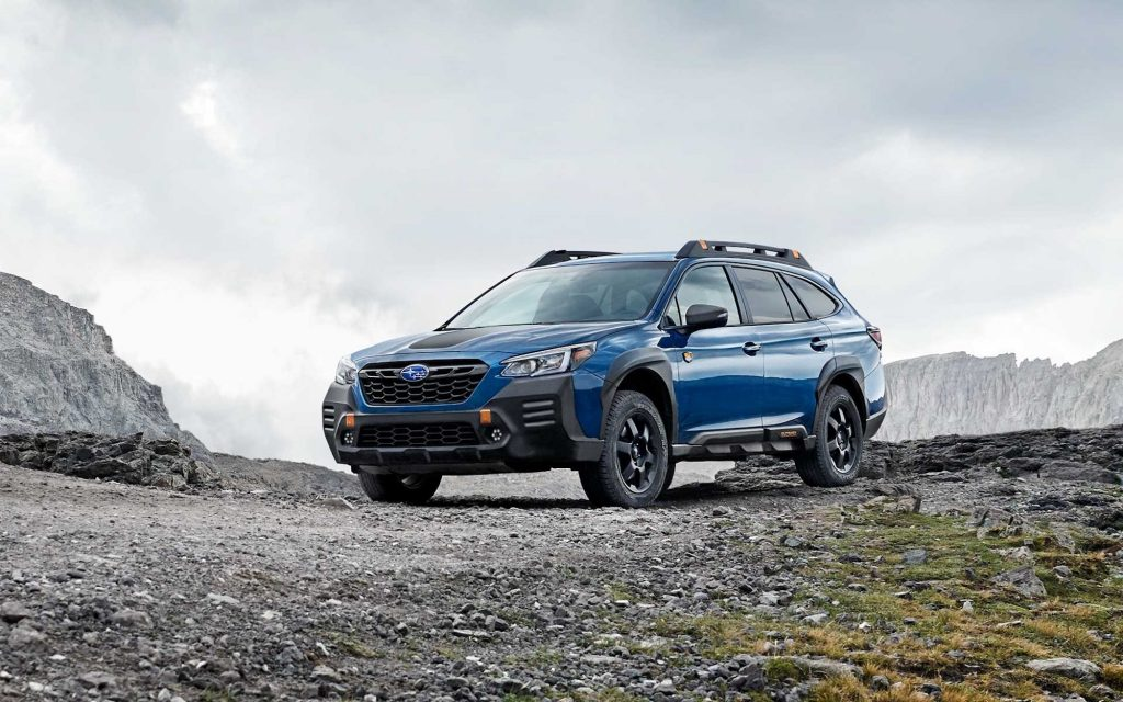 2022 Subaru Outback Wilderness parked on a gravel road