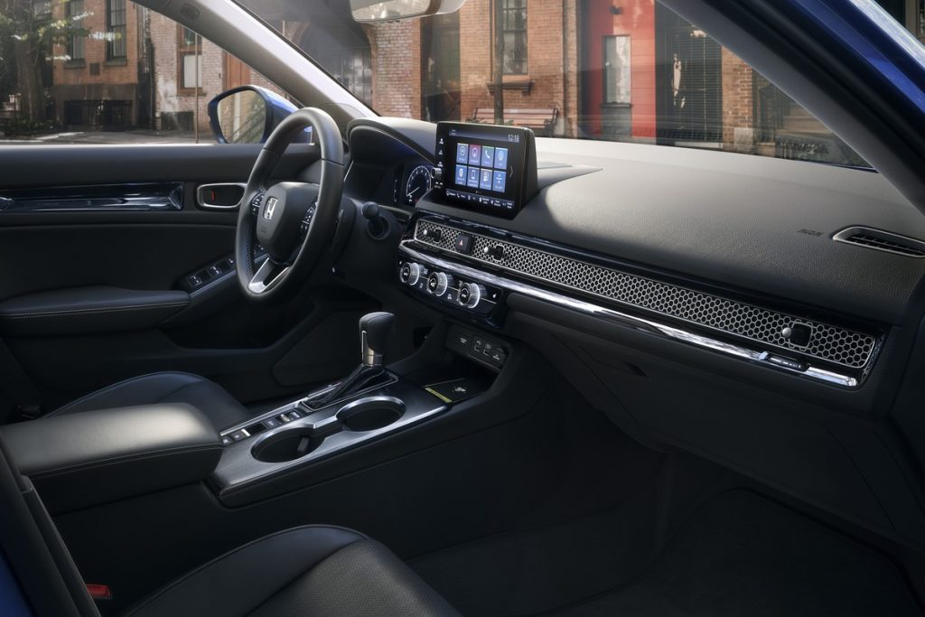 2022 Honda Civic Touring interior shot