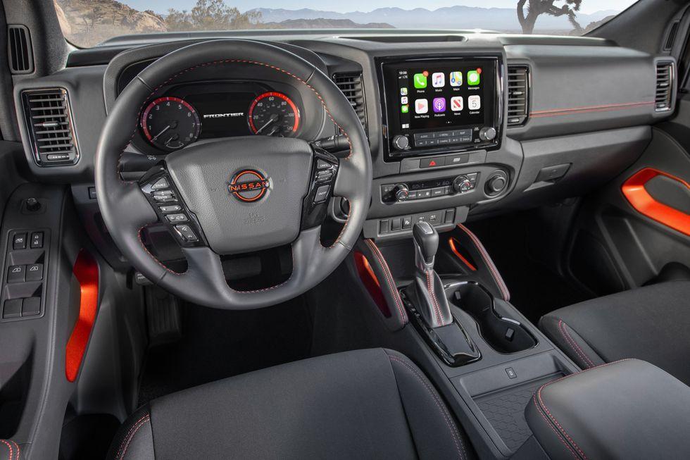 The 2022 Nissan Frontier Interior