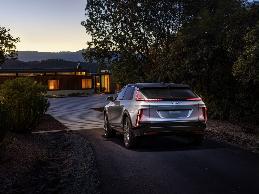 An image of a 2023 Cadillac LYRIQ parked outside.