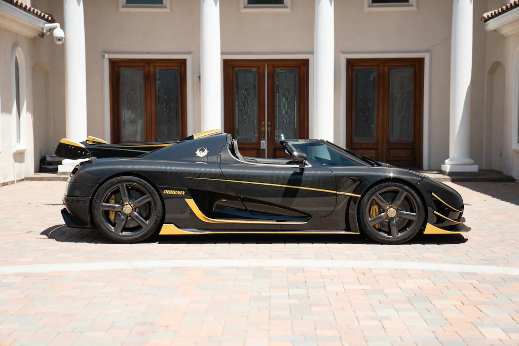 An image of a Koenigsegg Agera RS parked outdoors.