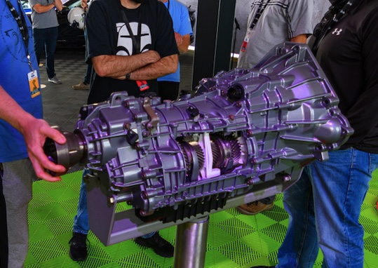 The Tremec transmission on display