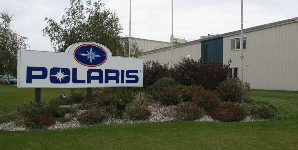 The Polaris sign outside of an corporate facility