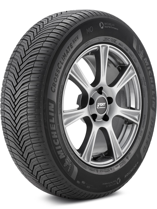 a michelin crossclimate tire against a white backdrop