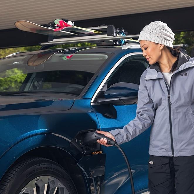 charging the 2021 Audi e-tron