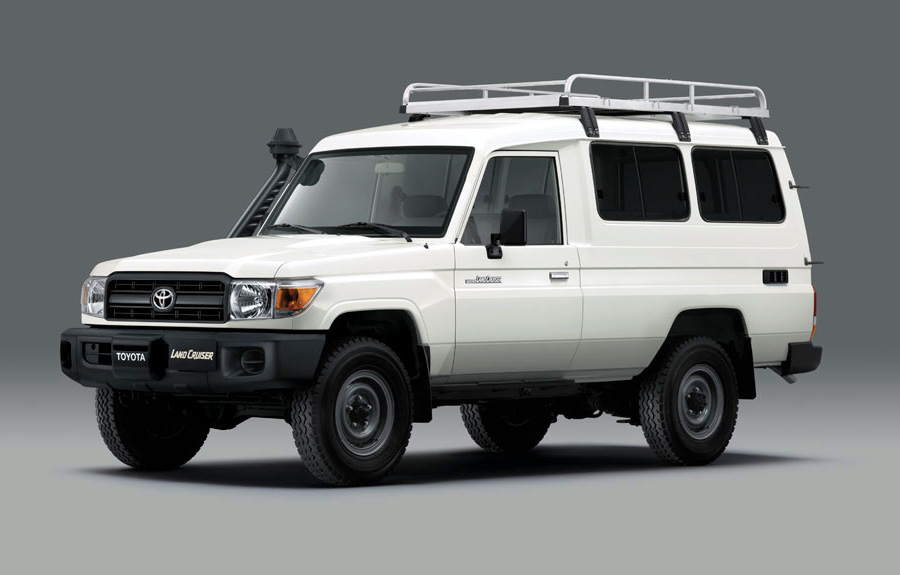 refrigerated Toyota Land Cruiser 78 prepped for the delivery of vaccinations