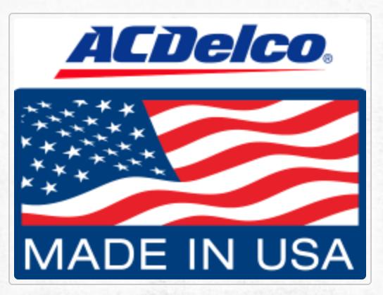 AC Delco Made in USA label