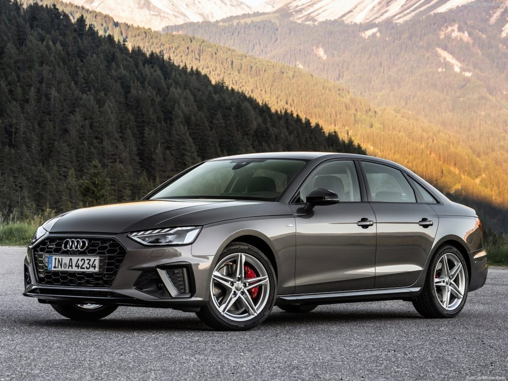 An image of an Audi A4 parked outdoors. It is one of Consumer Reports' top picks for 2021 luxury cars.
