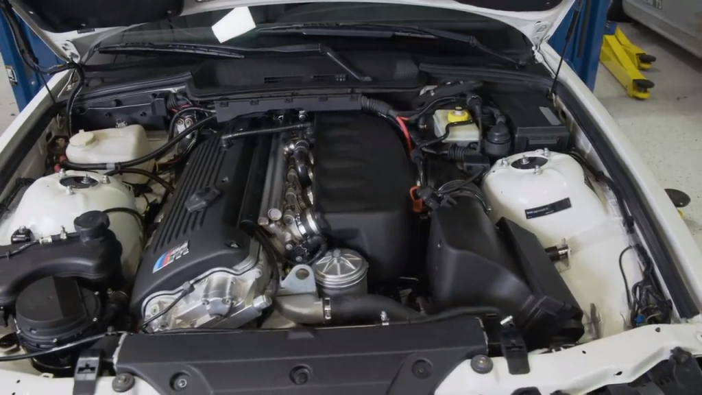 A picture of a BMW E36 M3 with an S54 engine swap