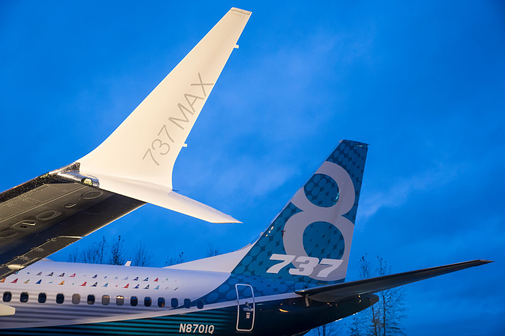 two Boeing 737 Max tails