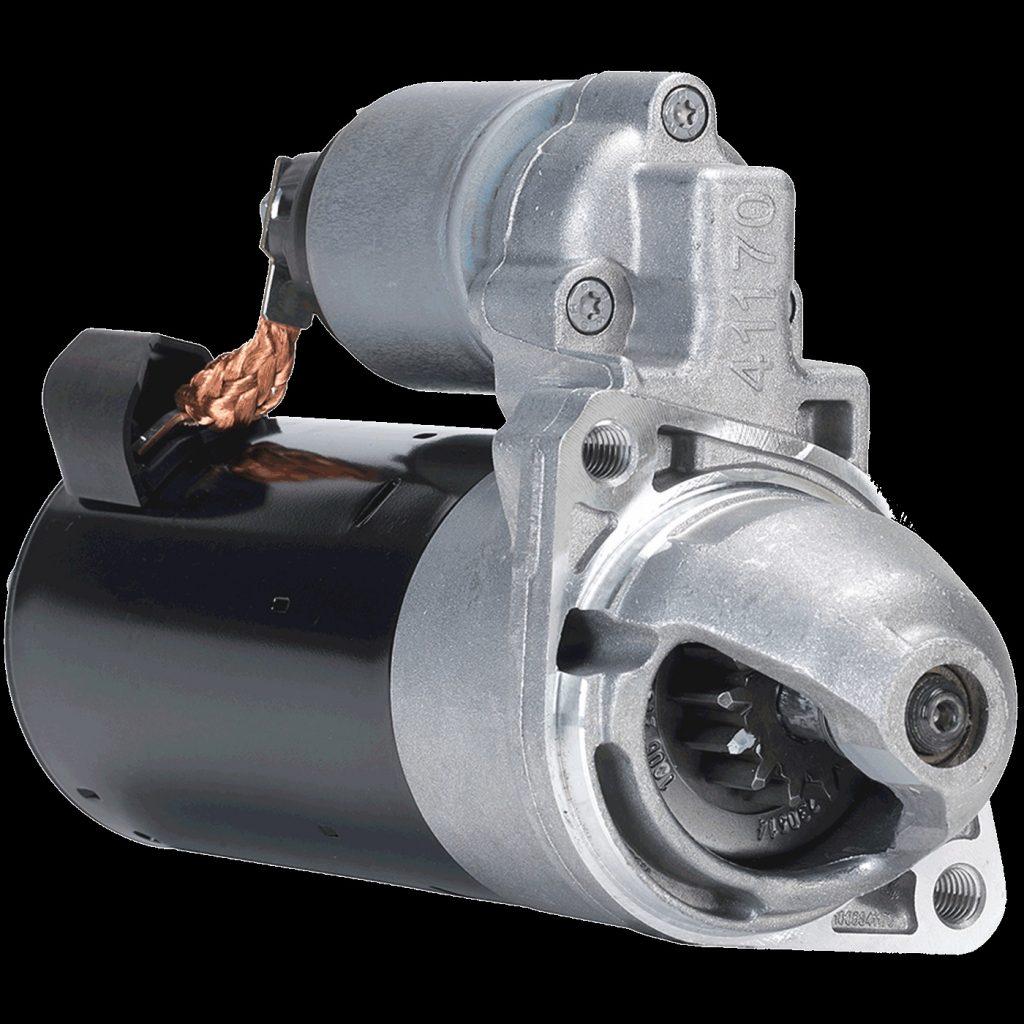 A Bosch car starter motor