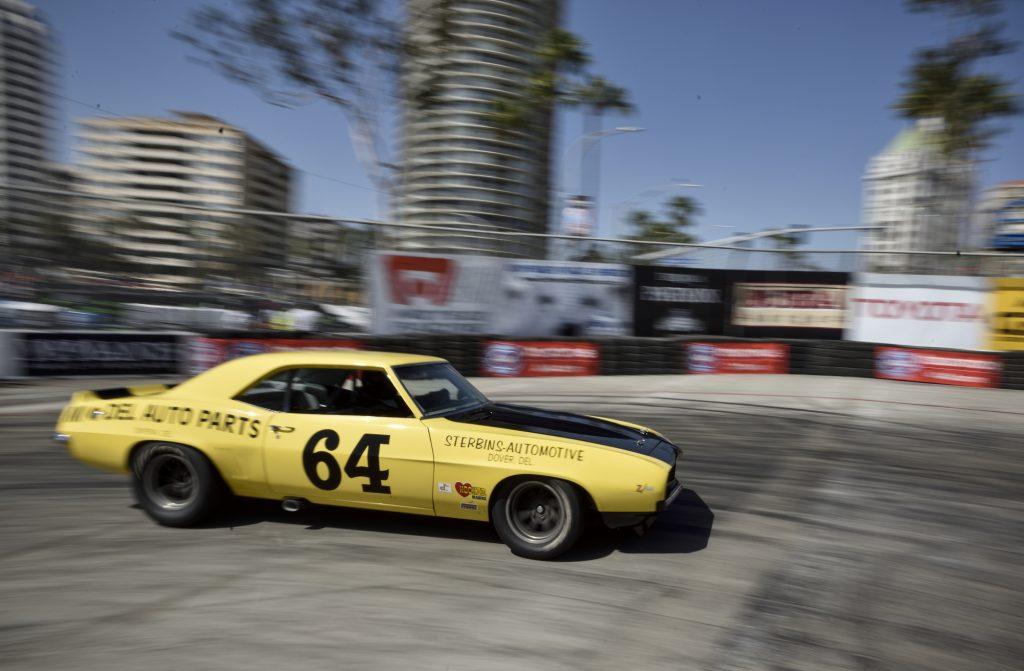 A yellow 1969 Chevy Camaro