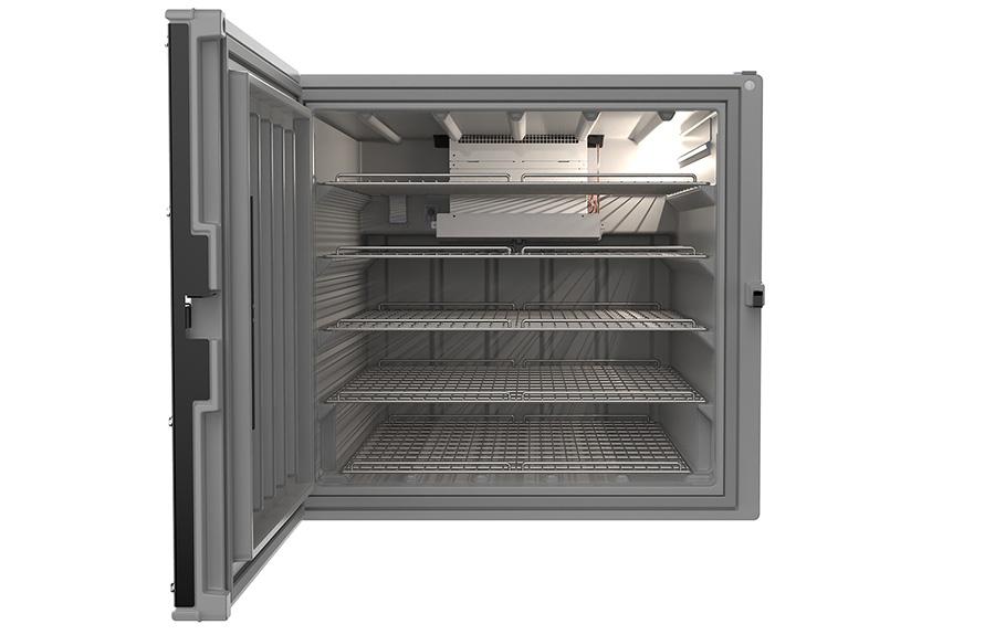B Medical Systems' CF850 vaccine refrigerator.