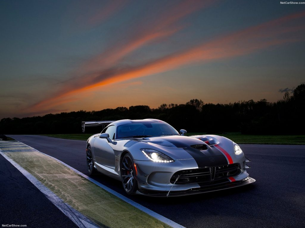 An image of a Dodge Viper out on a race track.