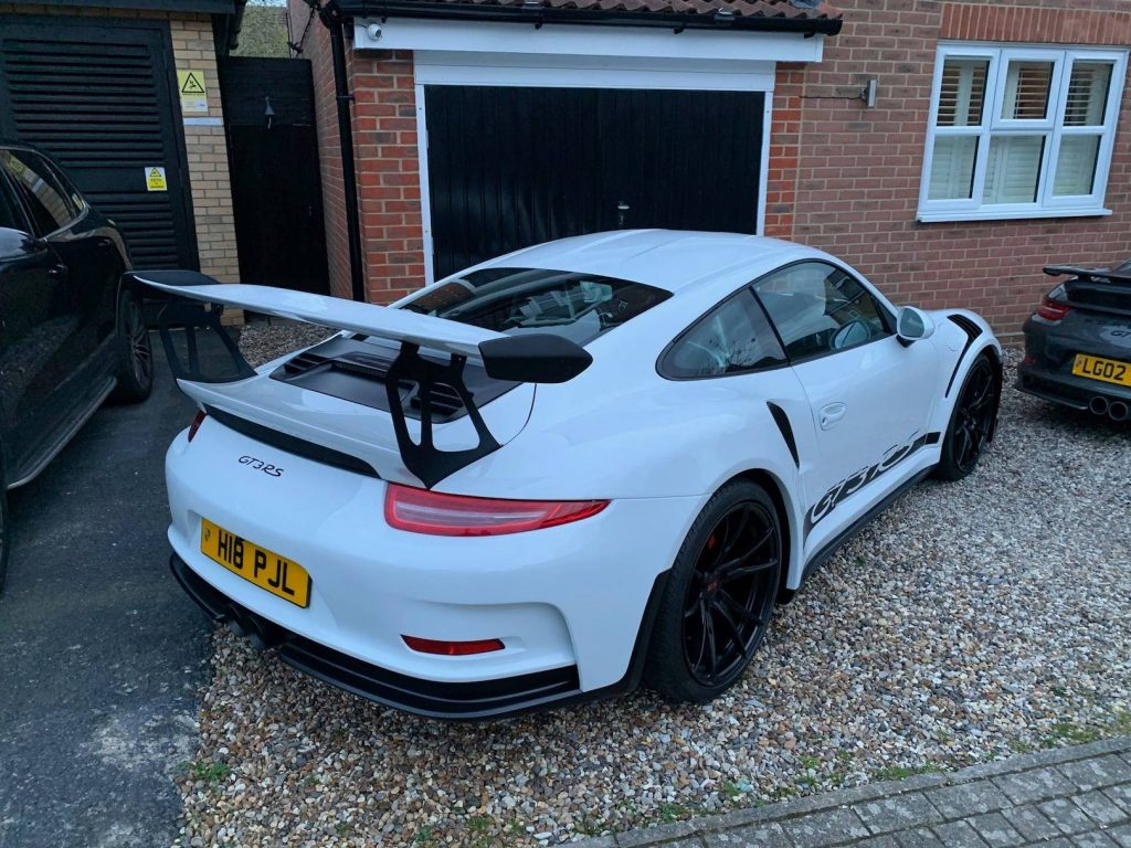 Fake 911 GT3 RS from Boxster rear 3/4 view