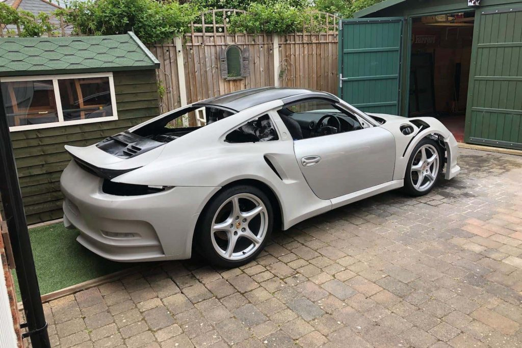 Fake 911 GT3 RS from Boxster under construction