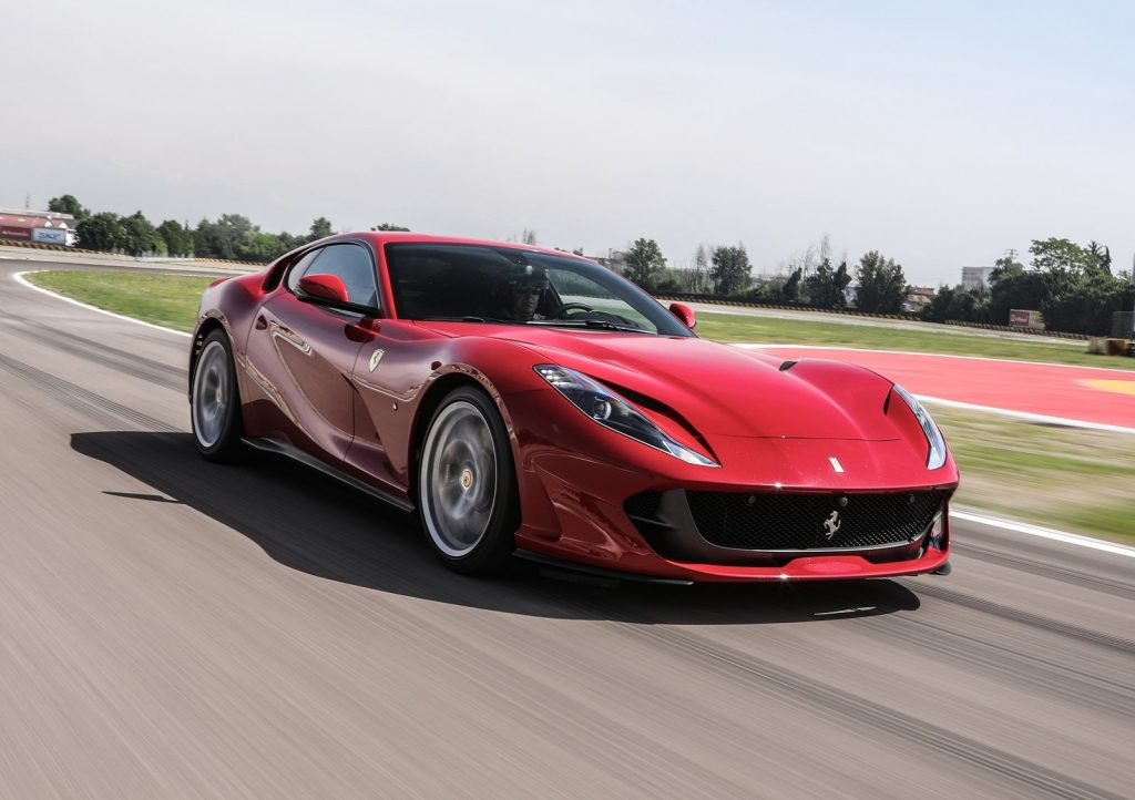 An image of a Ferrari F12 Superfast outdoors.